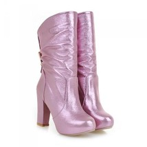 24280 Sweet Matin Bridal Booties, patent leather, Extra size (34-43), pink - $117.00