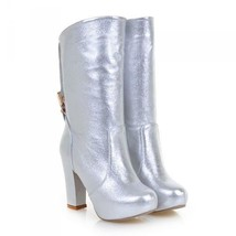 24280 Sweet Matin Bridal Booties, patent leather, Extra size (34-43), silver - $117.00