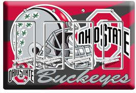 OHIO STATE BUCKEYES UNIVERSITY FOOTBALL TEAM 4 GFCI LIGHT SWITCH ROOM HO... - $21.99