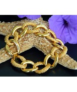 Vintage Napier Bracelet Smooth Textured Bright ... - $23.95