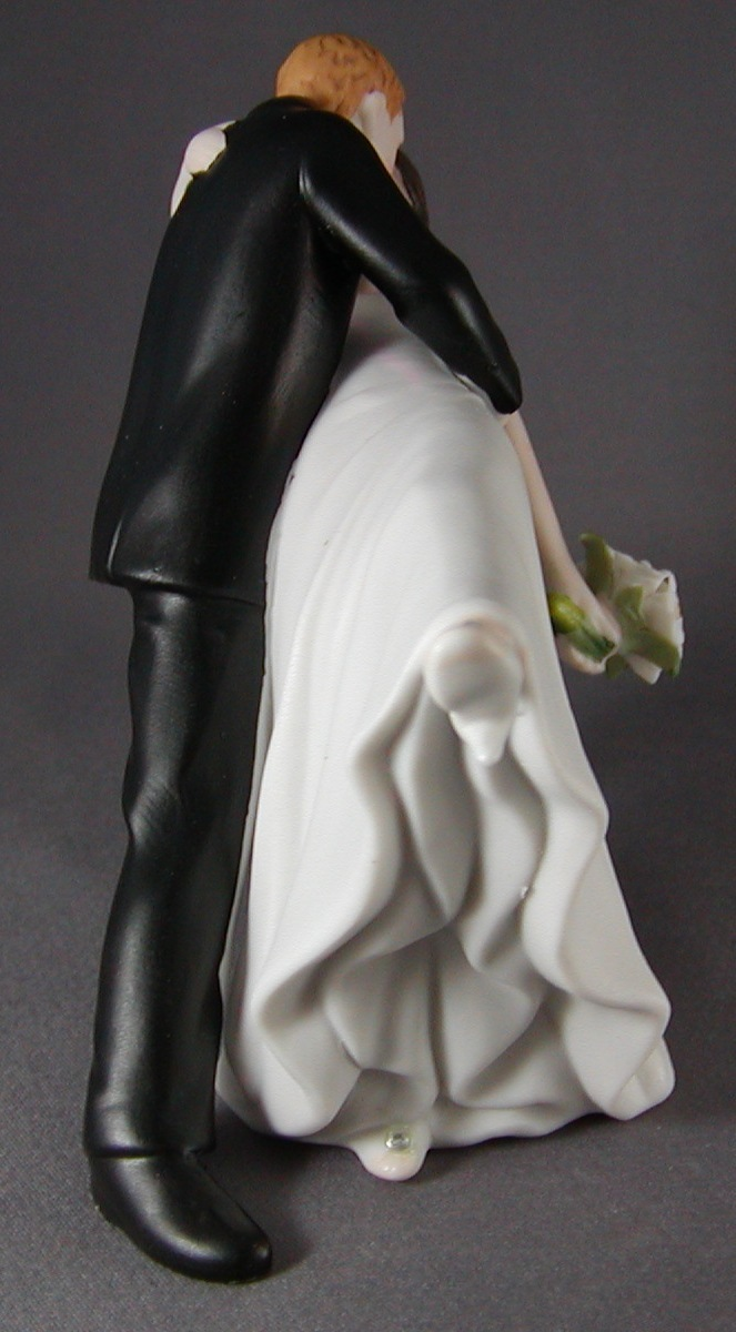wedding cake topper groom dipping bride and groom cake topper figurine porcelain 26328