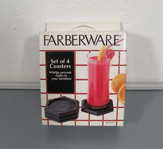 Farberware Coaster Set 4 Piece Coasters Hexagon... - $9.95