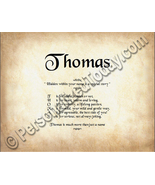Thomas Hidden Within Your Name Is A Special Sto... - $8.95