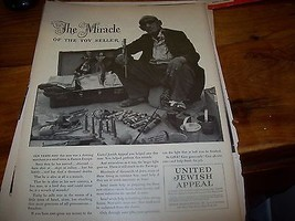 1950 The Miracle of the Toy Seller United Jewish Appael Print Ad - $2.97
