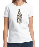 Will Work For Beer Ladies Short Sleeve T Shirt S M L XL 2XL 3XL - $16.99+