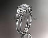Leafring330 white gold  platinum  diamond wedding ring  diamond engagement ring  forever brilliant moissanite  1 thumb155 crop