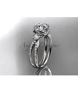 Platinum diamond unique engagement ring, wedding ring ADER146 - $2,395.00