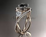 Leafring320 rose gold  diamond wedding ring  diamond engagement ring  black diamond  1 thumb155 crop