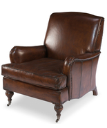 Awesome English Roll Arm Top Grain Leather Chair - $2,750.00