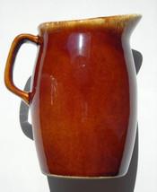 "Vintage Mirror Brown Drip Hull Pottery Jug Creamer Syrup Pitcher 4.5"" - $10.39"