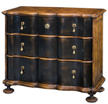 ITALIAN 18TH CENTURY STYLE SOLID WALNUT BLACK C... - $2,750.00