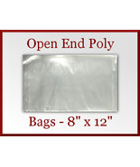 200 Open End Flat Poly Bags 8 x 12 inches USDA FDA Approved - $24.98