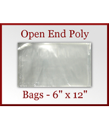 200 Open End Flat Poly Bags 6 x 12 inches USDA FDA Approved - $19.98