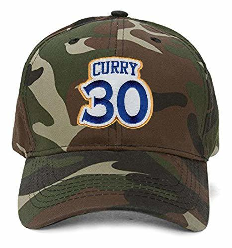 Stephen Curry No. 30 Hat - Adjustable Unisex Camo Basketball Cap