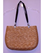 "LANCOME  HANDBAG "" 15 X 10 X 3 - STRAP DROP 12 - WICKER - $11.99"