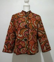 Ruby Rd. Lightweight Quilted Jacket Sz 14 Brown Fall Colors Pebbles Big ... - $11.27
