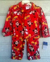 Disney Mickey Mouse Red 2 Pc Pajama Set Toddlers Size 3T - $15.76