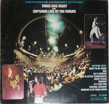 "Three Dog Night   ""Captured Live At The Forum""   Dunhill Records   DS-50... - $9.00"