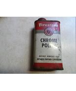 Firestone Chrome Polish 8 fl oz Tin Not Full-Vintage - $20.00