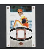 2005 Upper Deck Sweet Spot Classic Nolan Ryan Game-Used Jersey Card - $29.99