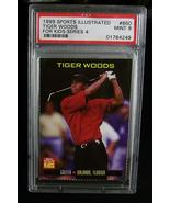 1999 SI For Kids Series 4 Tiger Woods Card #860 PSA Graded Mint 9 Nice! - $129.99