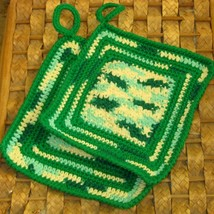 Hanging Kitchen Potholder Set in Artistic Mix o... - $14.00