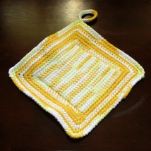 Yellow ombre pair of pot holders tunisian center single1 sq img 3676 af 750x 96 thumb200