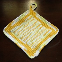Yellow ombre pair of pot holders tunisian center single2 sq img 3677 af 750x 96 thumb200