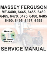 Massey Ferguson Tractors 6465 6470 6475 6480 6485 6490 6495 6497 Service... - $29.95