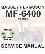 Massey Ferguson Tractors Shop Service Manual 6400 MF6445 MF6455 MF6460 M... - $29.95