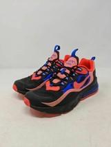 Nike Unisex Kids Air Max 270 React GS Running Shoes Black CT1579-001 Lac... - $42.56