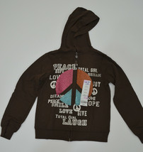 Total Girl French Terry Hoodie - Girls Size 4 NWT Full Zip - $8.99