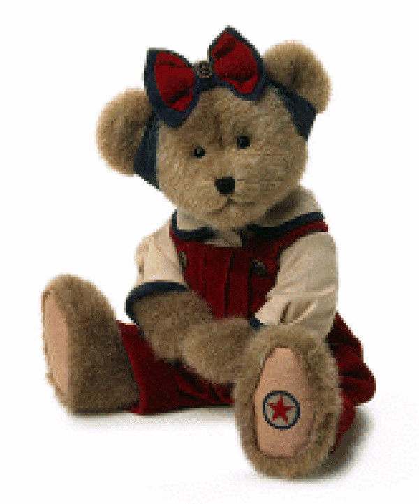 "Boyds Bears ""Jennie Glorybear"" 14"" Americana Plush Bear -#904191-  NWT- Retired"
