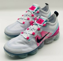 NEW Nike Air Vapormax 2019 Grey Pink Teal White AR6632-007 Women's Size 8.5 - $188.09