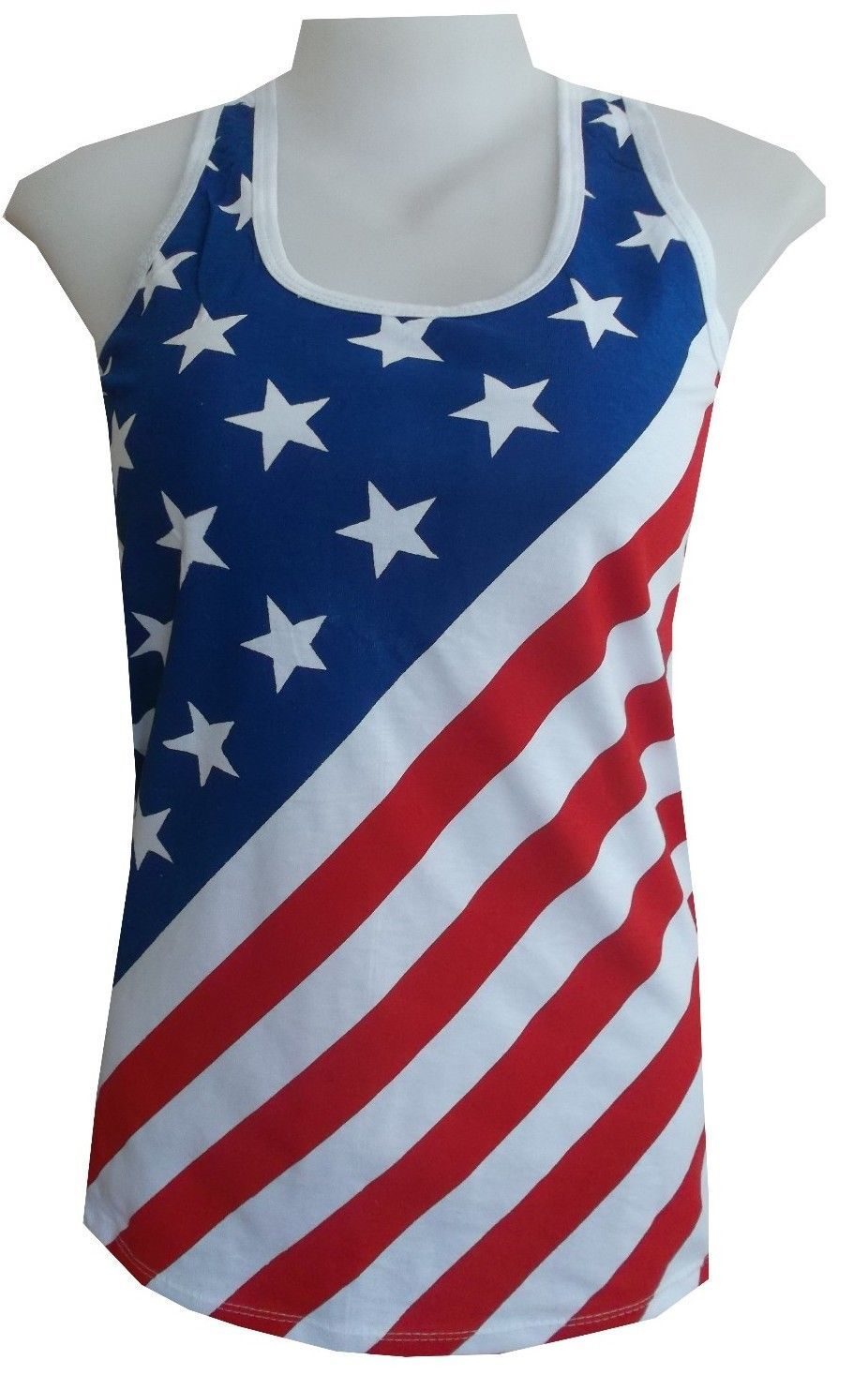 dg Lady Tank Top Shirt AMERICAN Flag NEW YORK CASUAL Beach USA Summer Cotton e