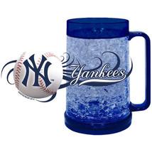 NEW YORK YANKEES 16 OZ CRYSTAL FREEZER MUG MLB BASEBALL KEEPS DRINK ICY ... - $13.91