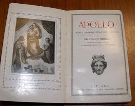 Antique Book Apollo Salomon Reinach Italian Illustrated Art Book ~1920 Italy  image 1