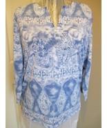 Cathy Basics Tunic Top Lightweight Size medium 100 % Polyester  Machine ... - $14.99