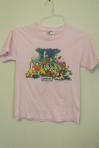 Womens Disney Pink Animal Kingdom Short Sleeve Cotton T Shirt Size Small - $8.95