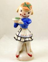 Vintage porcelain rag doll clown waitress figur... - $18.00