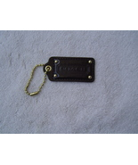 AUTHENTIC COACH MAHOGANY BROWN PATENT LEATHER STUDDED HANG TAG  EUC - $12.75