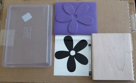 NEW 2007 Stampin Up Big Blossom Flower Floral Daisy Petals Large RUBBER STAMP - $12.86