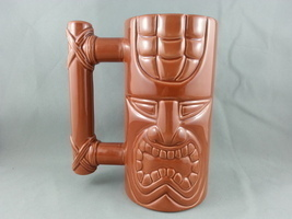 Island Heritage Tiki Mug - Stylized Handle - Perfect for Deck Drinking !! - $44.00