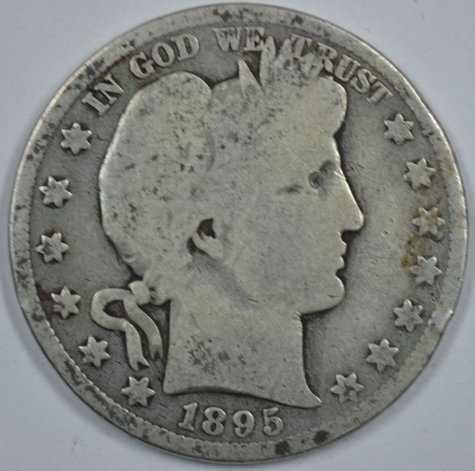 Primary image for 1895 P Barber circulated silver half G details