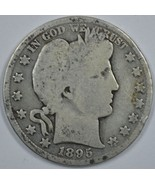 1895 P Barber circulated silver half G details - $22.00