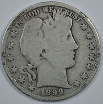 1899 P Barber circulated silver half  - $20.00