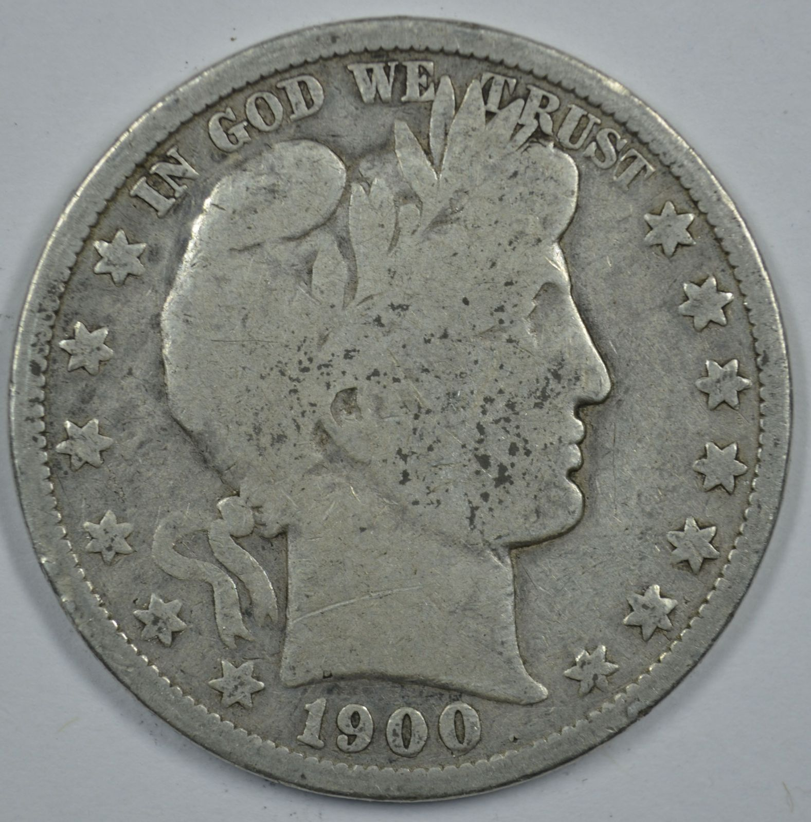 Primary image for 1900 P Barber circulated silver half