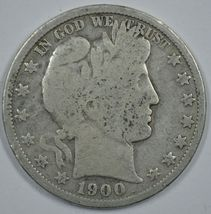 1900 P Barber circulated silver half  - $18.00