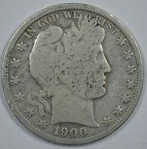 1900 P Barber circulated silver half  - $18.00