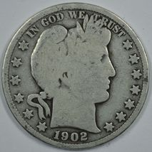 1902 P Barber circulated silver half  - $18.00